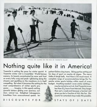 Yosemite winter sports conveniently reached at Yosemite National Park California [cover title].
