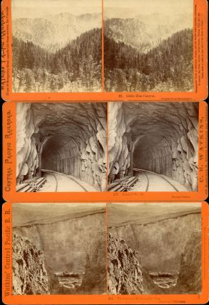 FOUR STEREOSCOPIC PHOTOGRAPHS OF THE CENTRAL PACIFIC RAILROAD AND PALISADE CANYON TAKEN FOR THE C. P. R. R. BY ALFRED A. HART FROM 1864 TO 1869.