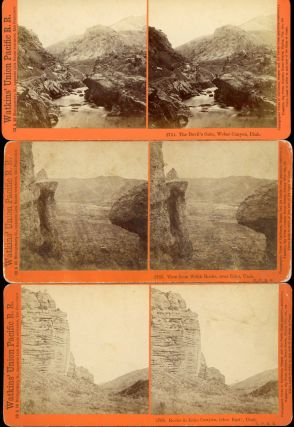 THREE STEREOSCOPIC PHOTOGRAPHS OF THE UNION PACIFIC RAILROAD AND ADJACENT AREAS TAKEN BY CARLETON...
