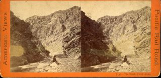 THE NOTCH, DEVIL'S GATE. No. 7130. Stereoscopic view. Central Pacific Railroad, Anthony, E. Co.,...