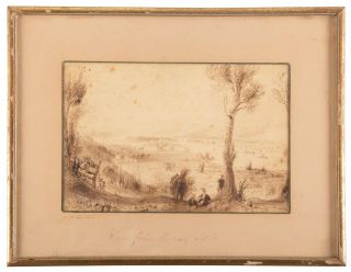 VIEW FROM MOUNT IDA [TROY, NEW YORK]. Original drawing.
