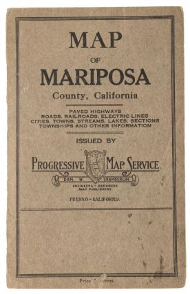Map of Mariposa County issued by the Progressive Map Co. Fresno California copyrighted 1916 by Progressive Map Co.