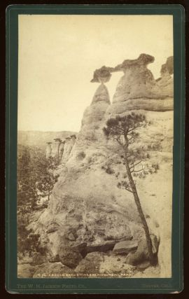 ERODED SANDSTONES OF MONUMENT PARK. No. 634. Albumen print. Colorado, William Henry Jackson