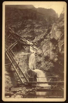 CHEYENNE FALLS [i.e. SEVEN FALLS]. No. 417. Albumen print. Colorado, William Henry Jackson