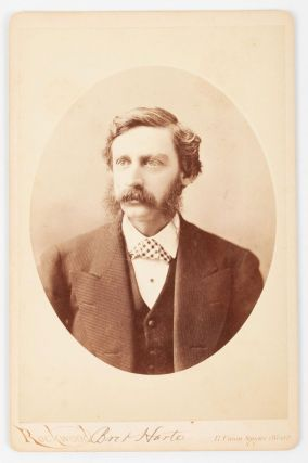 PHOTOGRAPH OF BRET HARTE. Albumen print. Bret Harte, photographer Rockwood George N