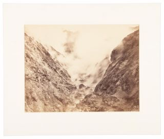 GEYSER CANYON, FROM DEVIL'S PULPIT. No. A 382. Albumen print. California, Sonoma County, The Geysers