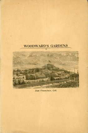 CATALOGUE OF THE GREAT COLLECTION IN NATURAL HISTORY OF THE WOODWARD'S GARDENS SAN FRANCISCO, CAL. COMMENCING THURSDAY, APRIL 6TH, 1893 AT 10 O'CLOCK A. M., ON THE PREMISES, MISSION ST., NEAR FOURTEENTH, AND CONTINUING DURING SUCCESSIVE DAYS, AT SAME HOUR, UNTIL EVERY ARTICLE IS SOLD. COMPRISING: FOUR MUSEUMS ... ART GALLERY ... THREE CONSERVATORIES ... LIVING ANIMALS AND BIRDS ... MARBLE STATUES AND VASES ... THE ABOVE COMPRISING OVER 75,000 OF VARIED ARTICLES OF VIRTU. --- ALSO --- A LARGE ASSORTMENT NOT ENUMERATED, CONSISTING OF MULES, WAGONS, CARTS, HOSE, GLASSWARE, CROCKERY, BENCHES, CHAIRS, STOOLS, IRON PIPING AND SUNDRIES. FOR FURTHER, INQUIRE OF EASTON, ELDRIDGE & CO. REAL ESTATE AND GENERAL AUCTIONEERS ...
