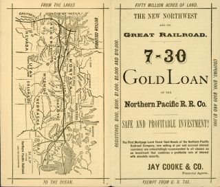 THE NEW NORTHWEST AND ITS GREAT RAILROAD. 7-30 GOLD LOAN OF THE NORTHERN PACIFIC R. R. CO. SAFE...