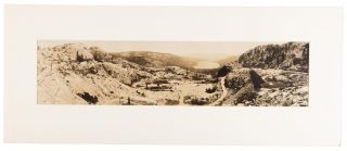 DONNER LAKE FROM SUMMIT -- LINCOLN HIGHWAY. Gelatin silver print. California, Nevada County,...