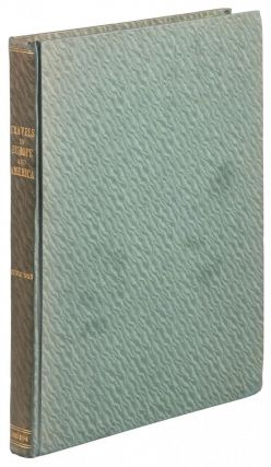 TRAVELS IN EUROPE AND AMERICA ... 1883-1894 [binder's title]. DIARY AND ITINERARY OF CHAS. H....
