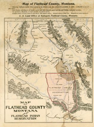 FLATHEAD COUNTY FACTS ... REMEMBER THE POINT OF ENTRY TO THE GREAT FLATHEAD INDIAN RESERVATION IS: KALISPELL, MONTANA [caption title].