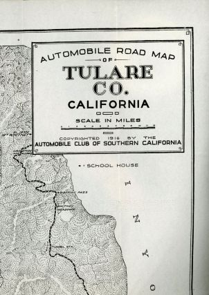 Automobile road map of Tulare Co. California ... Copyrighted 1916 by the Automobile Club of Southern California.