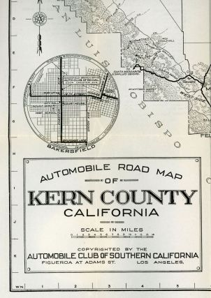 Automobile road map of Kern County California ... Copyrighted by the Automobile Club of Southern California Figueroa at Adams St. Los Angeles.