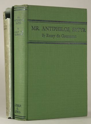 MR. ANTIPHILOS, SATYR ... Translated from the French by John Howard. With an Introduction by Jack Lewis.